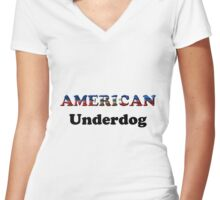 American Underdog - Haiti Women's Fitted V-Neck T-Shirt