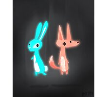Ghost Animals - Bunny & Fox Photographic Print