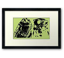 Wise Guys Black Framed Print