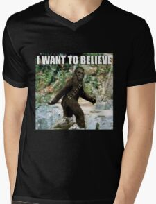 Chewy in the woods Mens V-Neck T-Shirt
