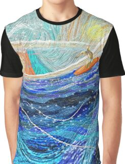 Surf's Up, digital illustration by Alma Lee Graphic T-Shirt
