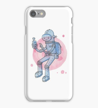 Blue Space Man iPhone Case/Skin