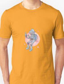 Blue Space Man Unisex T-Shirt
