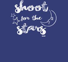 Shoot for the stars Womens Fitted T-Shirt