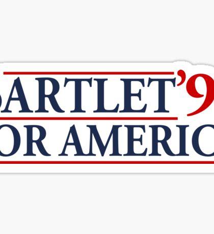 Bartlet for America Slogan Sticker