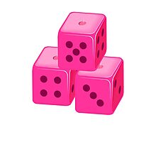 Pink Bunco Dices VRS2 Photographic Print