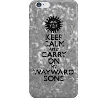 Carry on Wayward Sons Grunge iPhone Case/Skin
