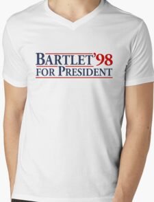 Bartlet for President Mens V-Neck T-Shirt