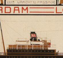 Vintage poster - Rotterdam - London Sticker