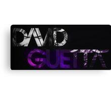 David Guetta logo black Canvas Print