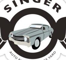 Supernatural inspired: 'Singer Auto Salvage Yard' - Bobby Singer (Minimalist Geek Chic) Sticker