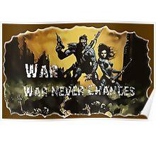 Fallout Classic, war, war never changes Poster