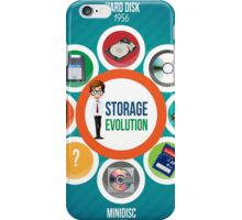 Infographic Storage Evolution cd rom zip disk ram memory floppy disc minidisc  iPhone Case/Skin