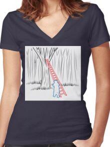 Da Bears - Climbing Women's Fitted V-Neck T-Shirt