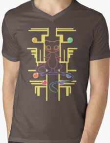 Ancient Mew - Black Background Mens V-Neck T-Shirt