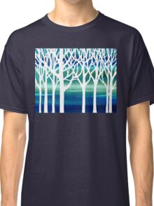 White And Teal Forest Classic T-Shirt