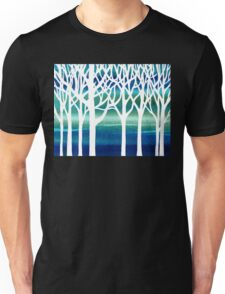 White And Teal Forest Unisex T-Shirt