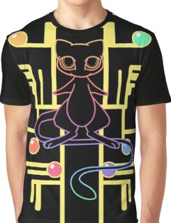 Ancient Mew - Black Background Graphic T-Shirt