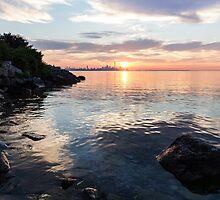 Silky Smooth and Transparent - Toronto Sunrise on the Lake by Georgia Mizuleva