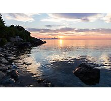 Silky Smooth and Transparent - Toronto Sunrise on the Lake Photographic Print
