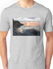 Silky Smooth and Transparent - Toronto Sunrise on the Lake Unisex T-Shirt