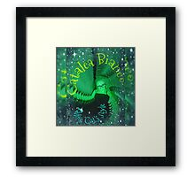 Emeralds Falling Framed Print