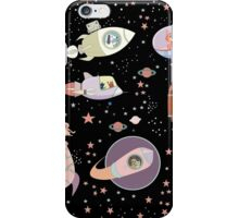 OUTER SPACE CANINES & FELINES iPhone Case/Skin