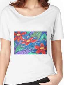 Flower Abstract Women's Relaxed Fit T-Shirt
