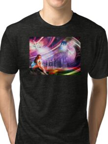 Wishing on a star... for someone from afar Tri-blend T-Shirt