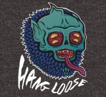 Hang Loose - Trippy Skater Monster T-Shirt/Sticker by CrystalKnot