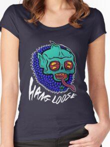Hang Loose - Trippy Skater Monster T-Shirt/Sticker Women's Fitted Scoop T-Shirt