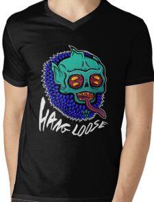 Hang Loose - Trippy Skater Monster T-Shirt/Sticker Mens V-Neck T-Shirt