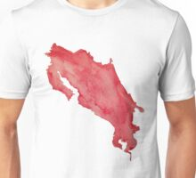 Costa Rica Red Watercolor Unisex T-Shirt