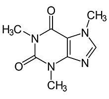 Caffeine Molecule Photographic Print