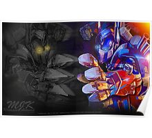 Facing Your Demons - TF AOE Optimus Abstract Poster
