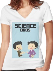 Tony & Bruce Women's Fitted V-Neck T-Shirt