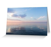 Silky Satin on the Lake - Blue and Pink Serenity  Greeting Card