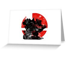 Bowser Smash - Red Greeting Card