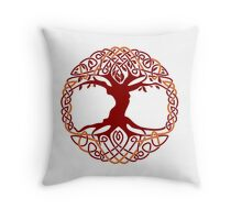 Yggdrasil Tree Of Life Throw Pillow
