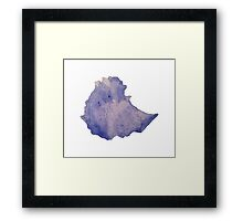 Ethiopia Watercolor Silhouette Framed Print