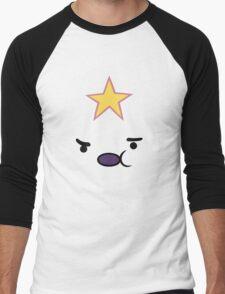 Adventure Time Lumpy Space Princess Face Men's Baseball ¾ T-Shirt