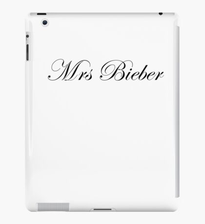 Mrs Bieber iPad Case/Skin