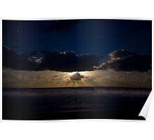 Moonrise over Werri Beach Poster