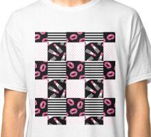 Lipstick Patchwork Classic T-Shirt