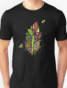 Honeybees Abound! Fun and Funky, Fanciful Feather Unisex T-Shirt