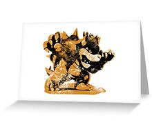 Bowser  -  Yellow Greeting Card