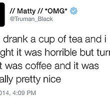 Matty Healy Tweet by loganchristine