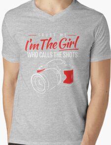Photographer Girl Mens V-Neck T-Shirt