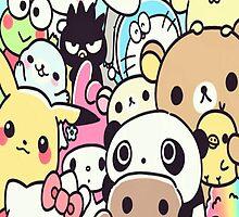 Cute Kawaii Japanese Characters by chongjeejee