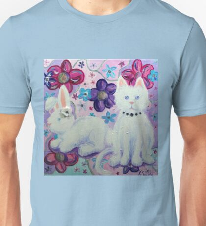 Bunny and Cat Unisex T-Shirt